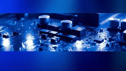 Computer electronics futuristic background