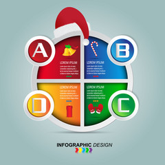 Christmas Infographics vector design template