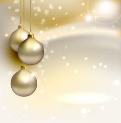 Background christmas golden christmas balls 2015