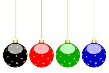 Boules de Noël de différentes couleurs