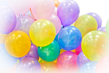 Group of colorful balloons