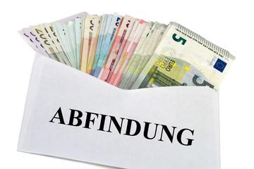 Geldscheine im Briefumschlag - Abfindung