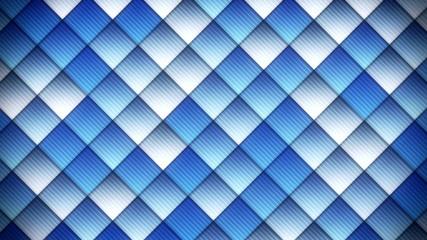 geometric pattern of blue squares loop