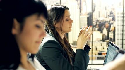 Business women working in office