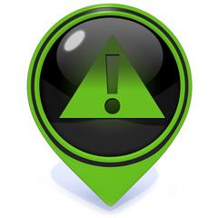 Danger pointer icon on white background