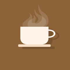 coffee cup icon flat design vector