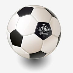 Realistic vector illustrated Soccer Ball.