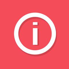 info sign i icon flat design vector