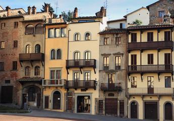 Arezzo houses, Tuscany, Italy