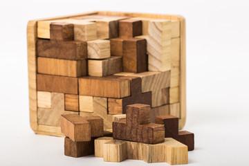 cube built from blocks