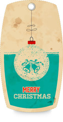Decorative tag with christmas motif