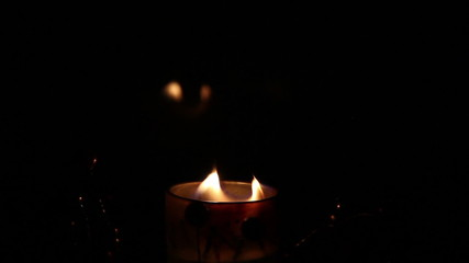 candle with reflection