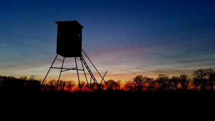 October's last sunset
