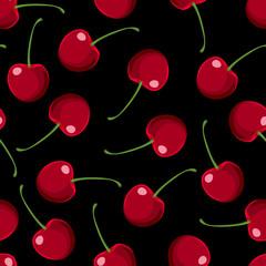 Red Cherries Seamless Pattern