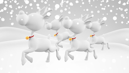 3d reindeer with running pose