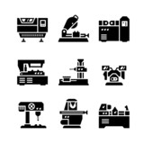 Set icons of machine tool - 73680623