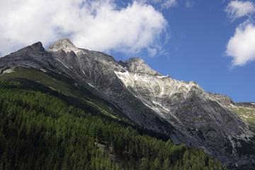 Swiss Alps in summer. A mountain landscape