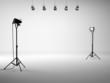 White studio with equipment - 73682625