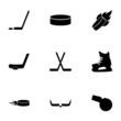 Vector hockey icon set - 73682823