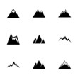Vector mountains icon set - 73683267