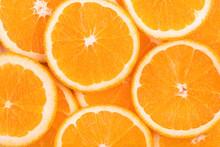 """Постер, картина, фотообои """"background of orange slices"""""""