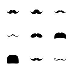 Vector moustaches icon set