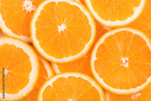 background of orange slices - 73683243