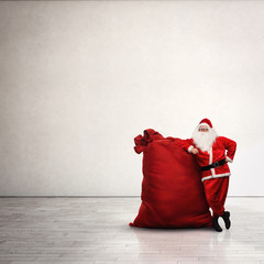 Santa Claus with large red sack