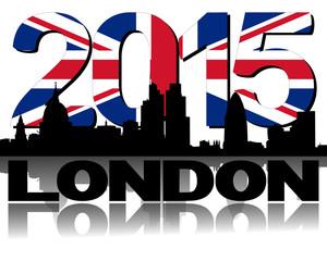 London skyline 2015 flag text illustration