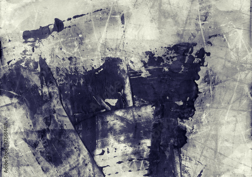 Grunge abstract textured mixed media collage, art background or © Lizard