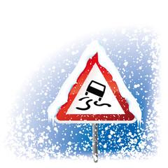 Schild Schnee+Glätte mit Schleudern