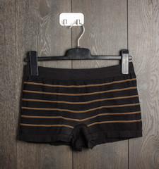 Black boy shorts on the hanger