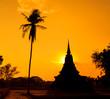 Sukhothai historical park 800 years in Thailand