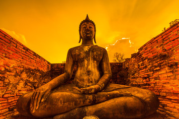 Sukhothai historical park 800 years in Thailand