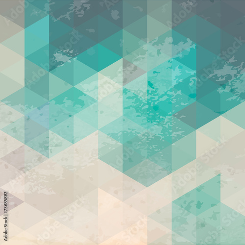 Geometric background with grunge texture © olhakostiuk