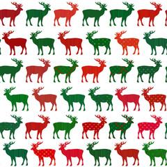 Deer Christmas holiday vector seamless pattern