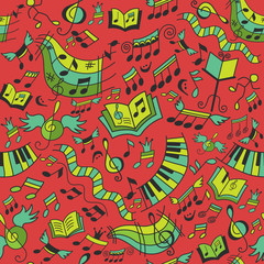 Seamless musical pattern.