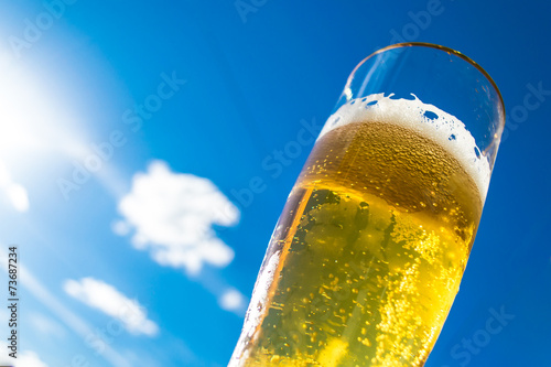 Glass of beer - 73687234