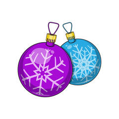 Christmas and New Year decorative balls.