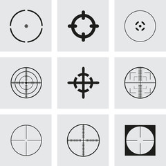 Vector crosshair icons set