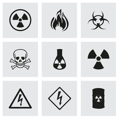 Vector danger icons set