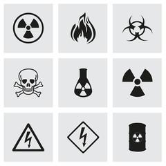 Vector danger icons set