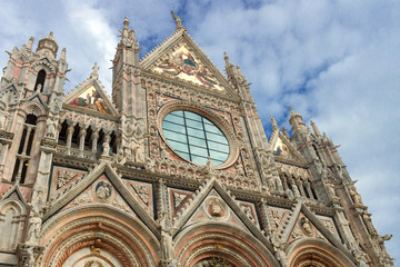 Siena cathedral in Italy