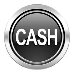 cash icon, black chrome button