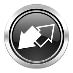 exchange icon, black chrome button