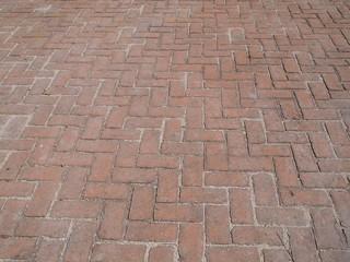 Brick pavement background