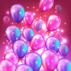 Balloons background. Vector illustration