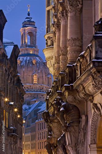 Leinwanddruck Bild Georgentor Dresden