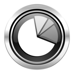 diagram icon, black chrome button, graph symbol