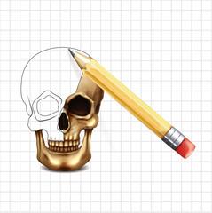 Skull vector sketch